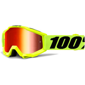 100% Accuri Anti Fog Mirror Goggles Barn fluo yellow